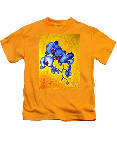 Blue Orchids 1 Kids T-Shirt