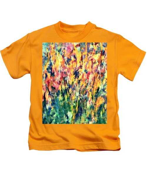 Crescendo Of Spring Abstract Kids T-Shirt