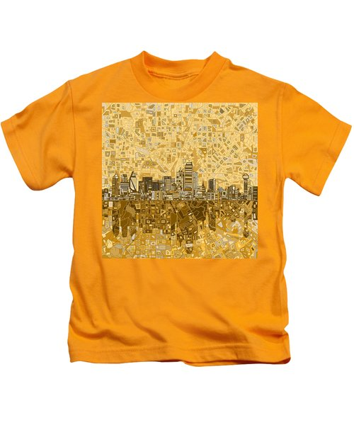 Dallas Skyline Abstract 6 Kids T-Shirt