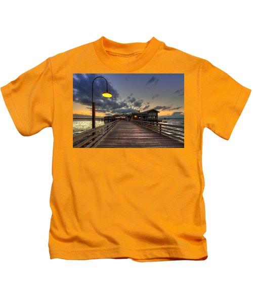 Dock Lights At Jekyll Island Kids T-Shirt