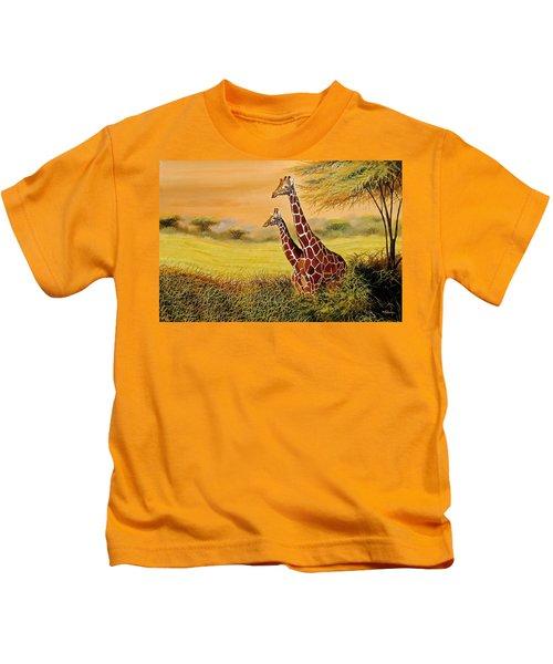 Giraffes Watching Kids T-Shirt