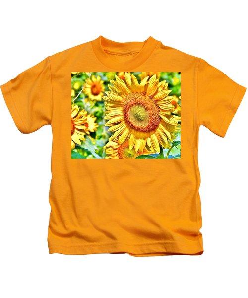 Glorious Sunflowers Kids T-Shirt