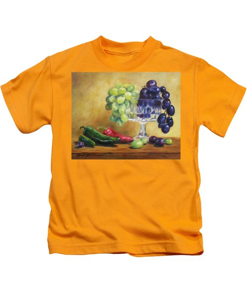 Grapes And Jalapenos Kids T-Shirt