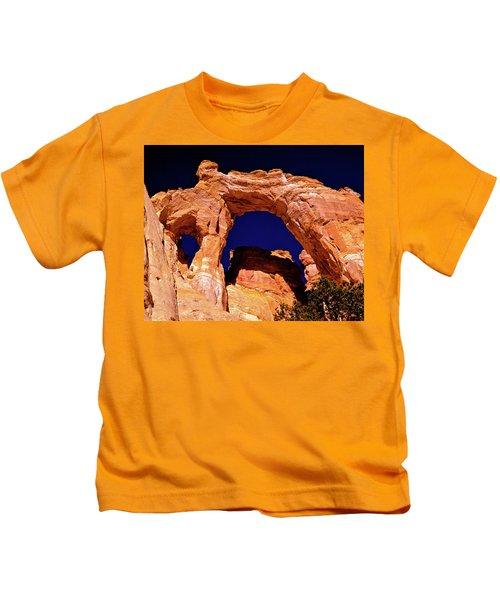 Grosvenor Arch Sunset Kodachrome Basin Kids T-Shirt