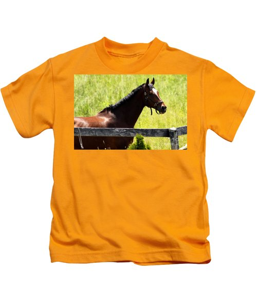 Handsom Horse Kids T-Shirt
