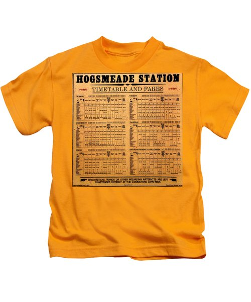 Hogsmeade Station Timetable Kids T-Shirt