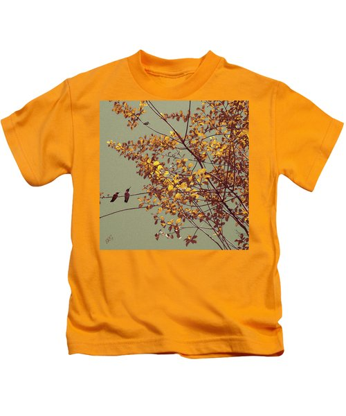 Hummingbirds On Yellow Tree Kids T-Shirt