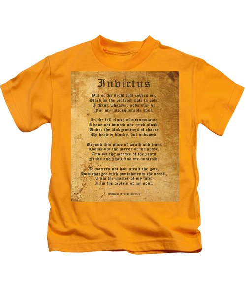 Invictus As A Tribute To Nelson Mandela Kids T-Shirt