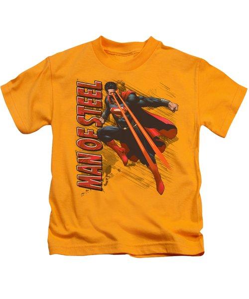 Man Of Steel - Eye Beams Kids T-Shirt