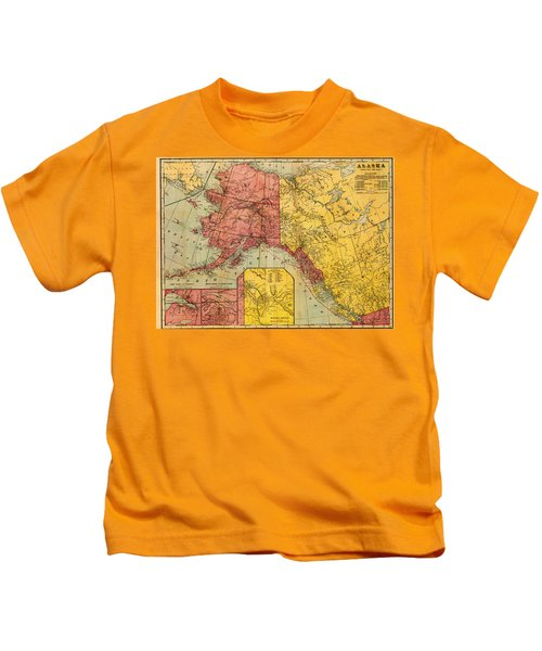 Map Of Alaska And Eastern Canada 1901 Kids T-Shirt