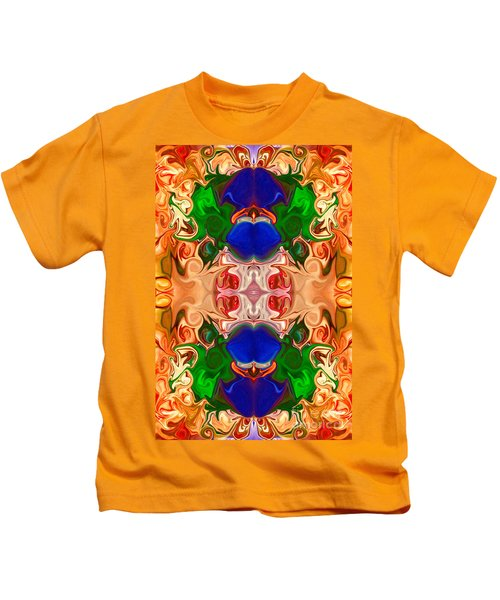 Merging Consciousness With Abstract Artwork By Omaste Witkowski  Kids T-Shirt