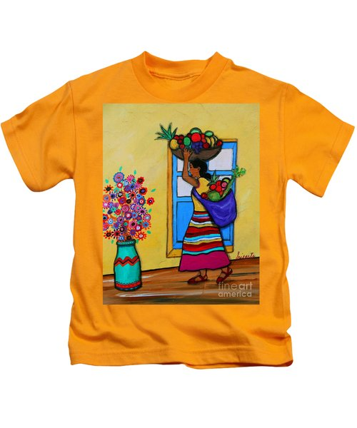 Mexican Street Vendor Kids T-Shirt