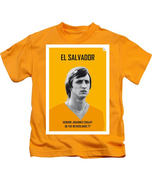 My Cruijff Soccer Legend Poster Kids T-Shirt by Chungkong Art