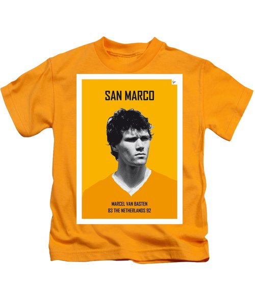 My Van Basten Soccer Legend Poster Kids T-Shirt by Chungkong Art