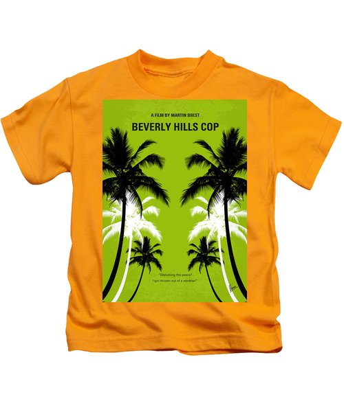 No294 My Beverly Hills Cop Minimal Movie Poster Kids T-Shirt