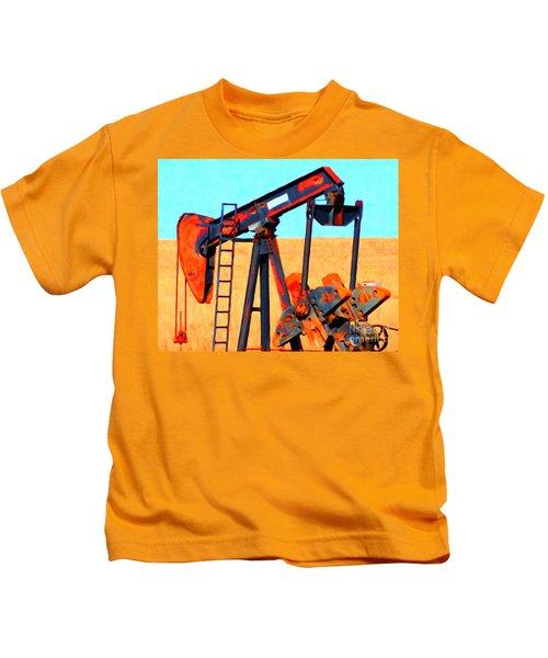 Oil Pump - Painterly Kids T-Shirt