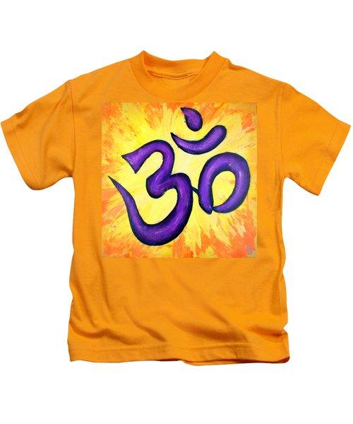 Om Symbol Art Painting Kids T-Shirt