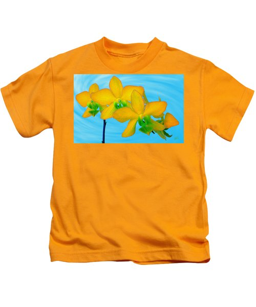 Orchid In Yellow Kids T-Shirt