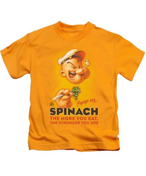 Popeye - Spinach Retro Kids T-Shirt