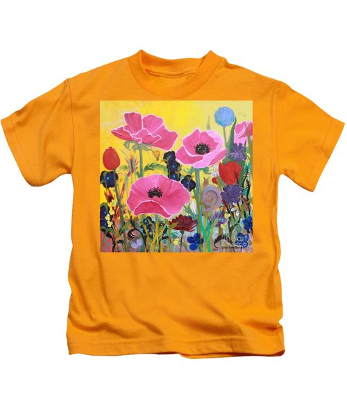 Poppies And Time Traveler Kids T-Shirt