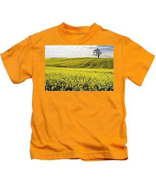 Rape Landscape With Lonely Tree Kids T-Shirt