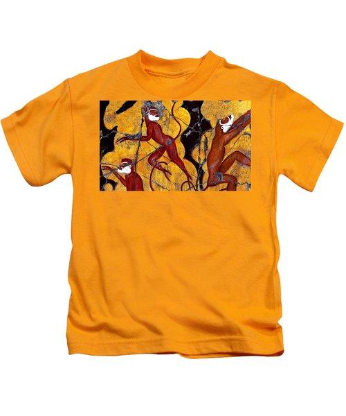 Red Monkeys No. 3 - Study No. 2 Kids T-Shirt
