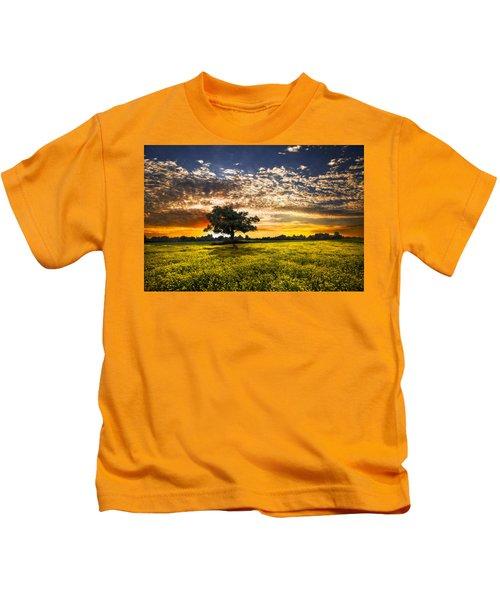 Shadows At Sunset Kids T-Shirt