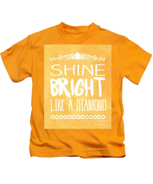 Shine Bright Orange Kids T-Shirt by Pati Photography