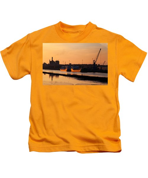 Ships Moored At The New Docking Kids T-Shirt