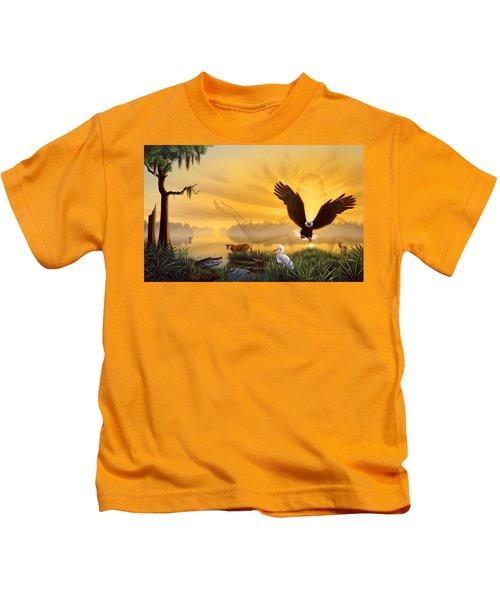 Spirit Of The Everglades Kids T-Shirt