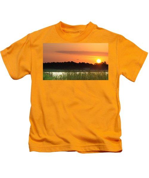 Sunrise At Lakewood Ranch Florida Kids T-Shirt