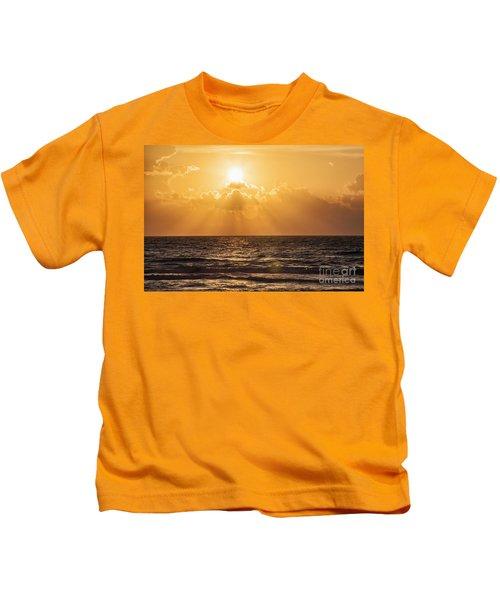 Sunrise Over The Caribbean Sea Kids T-Shirt
