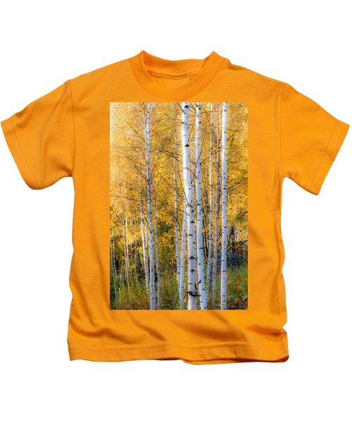 Thin Birches Kids T-Shirt