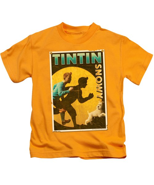 Tintin - Tintin And Snowy Flyer Kids T-Shirt
