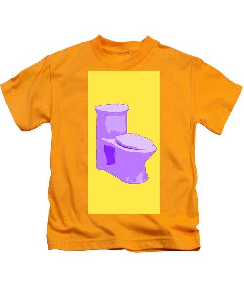 Toilette In Purple Kids T-Shirt