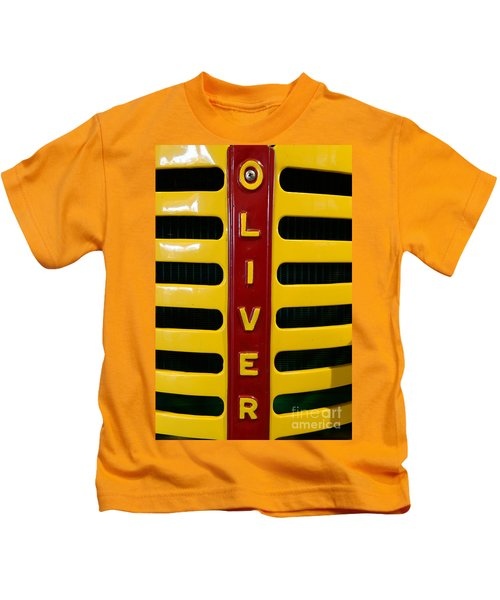 Vintage 1950 Oliver Tractor Kids T-Shirt