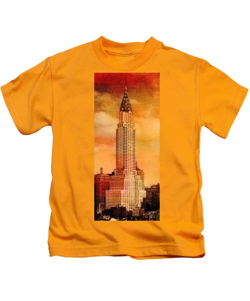 Vintage Chrysler Building Kids T-Shirt