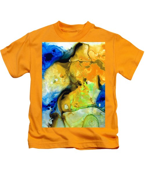 Walking On Sunshine - Abstract Painting By Sharon Cummings Kids T-Shirt