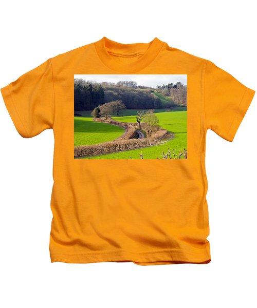 Winding Country Lane Kids T-Shirt