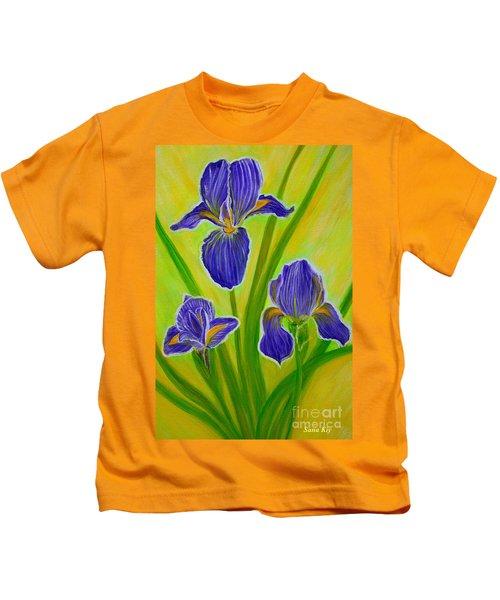 Wonderful Iris Flowers 3 Kids T-Shirt
