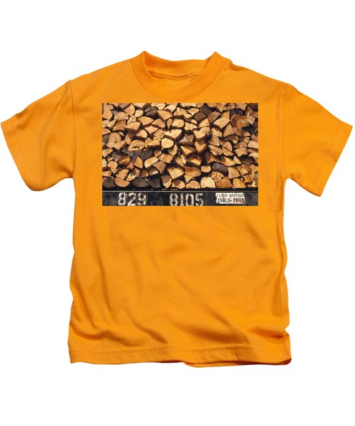 Firewood Hauled From Clearcut On Truck Kids T-Shirt