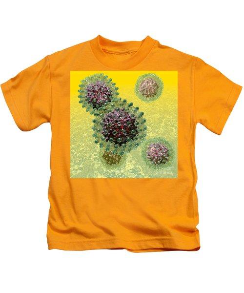 Hepatitis B Virus Particles Kids T-Shirt