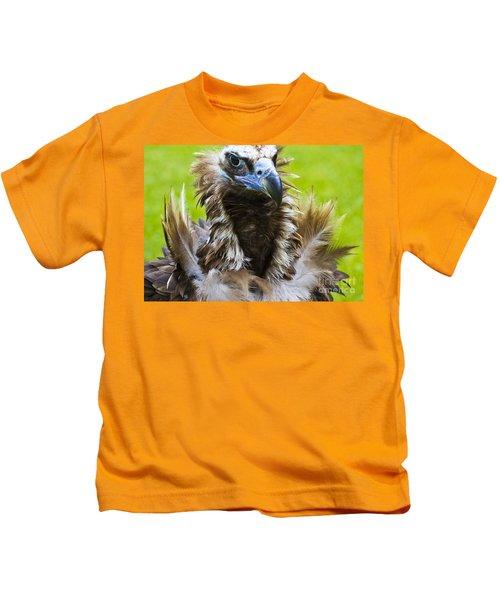 Monk Vulture 4 Kids T-Shirt by Heiko Koehrer-Wagner