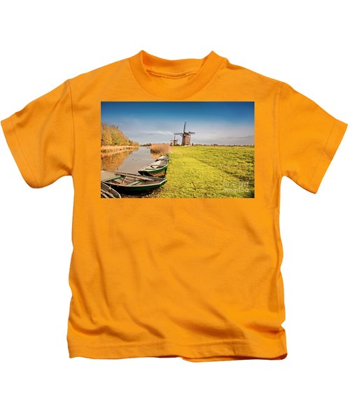 Traditional  Dutch Landscape Kids T-Shirt