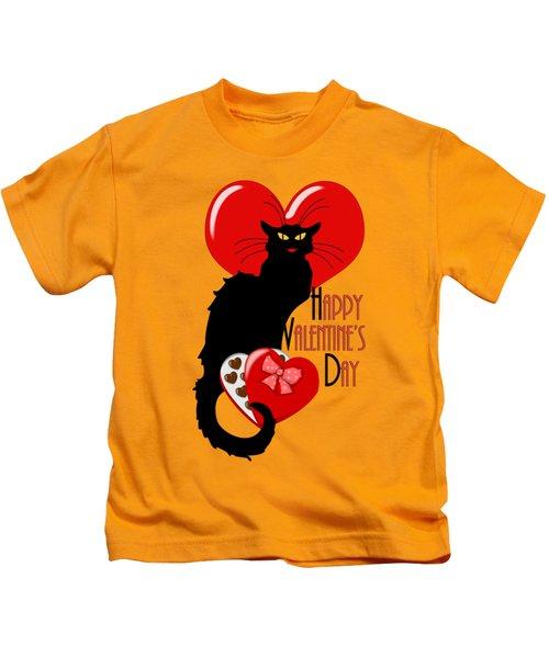 Happy Valentine's Day Le Chat Noir Kids T-Shirt