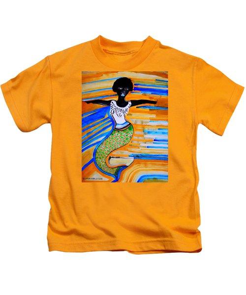 Dinka Mermaid - South Sudan Kids T-Shirt
