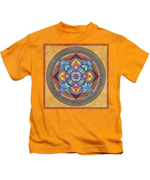 Divine Order Mandala Prayer Kids T-Shirt