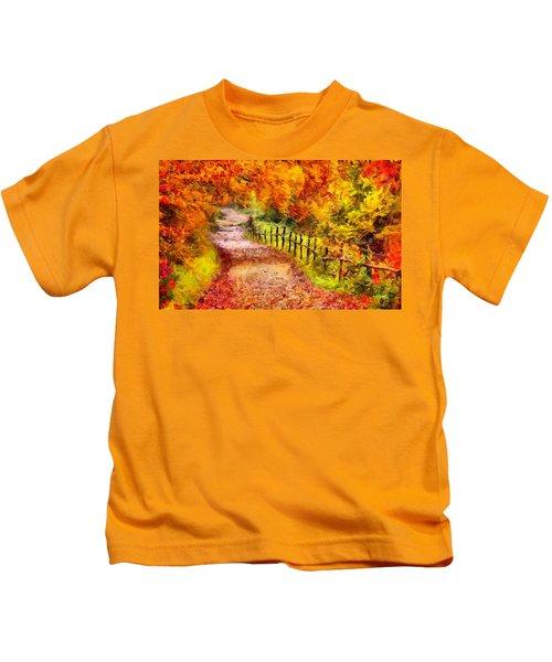 Fall Foliage Path 2 Kids T-Shirt