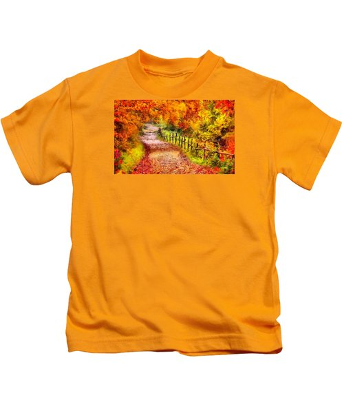 Fall Foliage Path 2 Kids T-Shirt