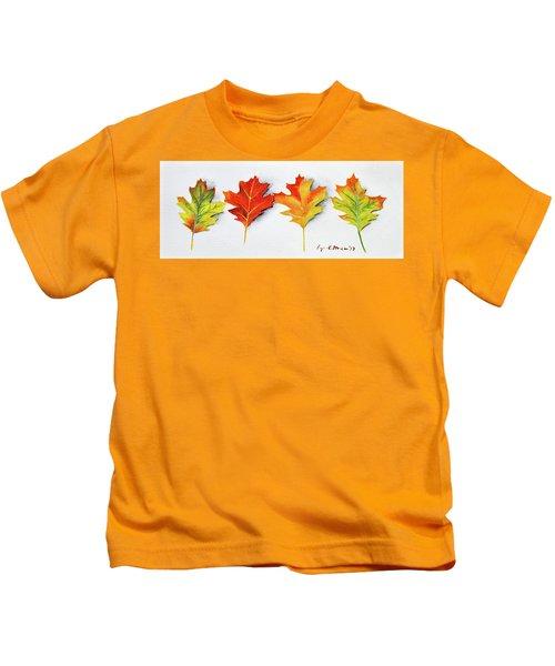 Four Autumn Leaves Kids T-Shirt